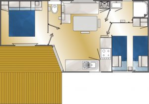 plan bungalows 4 pers confortN